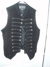 Women's Vintage New Identity 100% Leather Military Vest - M - Pre Owned But Nice