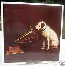 Nipper Victor Edison dog and phonograph poster RCA GE large on heavy card stock