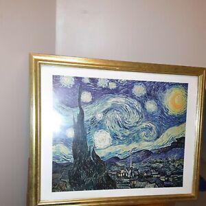 Van Gogh,Starry Night,Framed1889.
