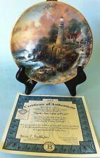 Thomas Kinkade Simpler Times Collectible Plate April Light Of Peace Bradford