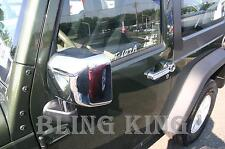 07-2017 Jeep Wrangler chrome door handle mirror cover trim package 4 door