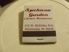 Vintage ? Szechwan Garden Chinese Restaurant Mishawaka IN matchbook