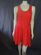 Express sleeveless geometric lace skate dress knee mini solid size L.