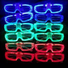Party Led Glasses Flashing Light Up Blinking Glasses (12 pack) Green, Red & Blue