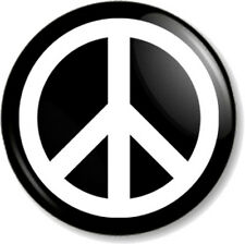 """Peace Symbol (1) 25mm 1"""" Pin Button Badge Pacifist Ban the Bomb Sign Hippie Love"""