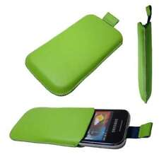 caseroxx Slide-Pouch for Samsung S5360 Galaxy Y in green made of faux leather