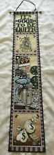 Mary Engelbreit It's Good To Be Queen Tapestry Bell Pull Wall Hanging