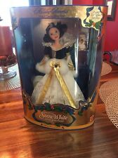 Disney Holiday Princess Snow White 1998 Doll NIB Never Opened Mattel