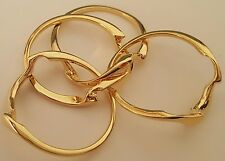NOS Seta Gold Plated Puzzle Ring Sz 7 1/2 You Solve It! Fashion Jewelry