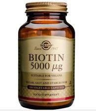Solgar Biotin 5000 mcg | Food Supplement - 100 Vegetable Capsules
