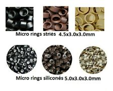 Set 100 200 1000 Rings / Microrings For Cold Extensions Shipping Express