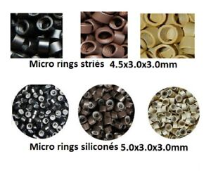 Set 100, 200, 500 1000 Rings / Microrings For Cold Extensions Express