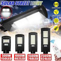 500/1000/1500/2500W LAMPIONE STRADALE LED SOLARE CON SENSORE PIR + TELECOMANDO
