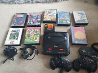 Original Sega Mega Drive 2, With 3 Controllers And 9 Games In Great Condition