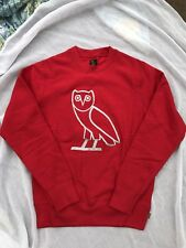 OVO Silver OG Owl Embroidered Crewneck Red 2015 Winter Collection 1/50 MADE!