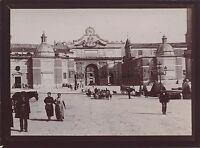 Roma Piazza Del Popolo Italia Foto Amateur Vintage Citrato 1898