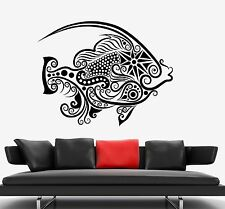 Wall Decal Fish Ocean Sea Ornament Tribal Mural Vinyl Decal (z3313)