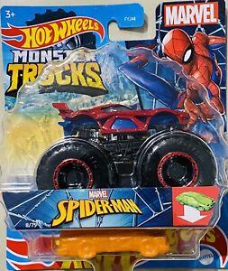 hot wheels Marvel Monster Trucks Spider Man 2021 new Release