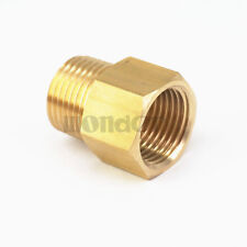 "1/2"" NPT Male x 1/2"" BSPP Female Brass Pipe Fitting Adapter For Pressure Gauge"