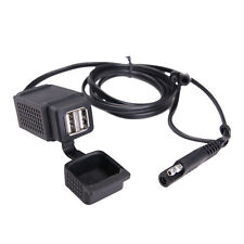 Motor Power Socket Charger SAE To Dual USB Adapter Cable Motorcycle f Phone MP3