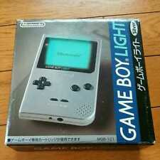 NEW Gameboy Light SILVER Console System Japan *COMPLETE - SCREEN EXCELLENT*
