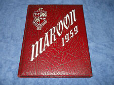 1959 Madisonville North Hopkins High School Yearbook Maroons Kentucky Annual