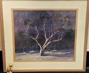 Large Framed Original Artwork - ALPINE GUM 97x86cm - Listed Aust Artist L Miller