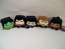 NEW LOT OF 5 STAR TREK KAWAII CUBE BEAN PLUSH KIRK UHURA SPOCK SCOTTY ORION GIRL