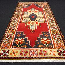 Türkischer Orient Teppich 245 x 125 cm Uschak Rot Old Turkish Ushak Oushak Rug