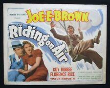 RIDING ON AIR Original title lobby card Joe E. Brown Florence Rice Guy Kibbee