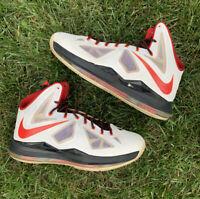 Nike Lebron James X 10 Miami Heat Home Men's Size 12 541100-100 MVP White 2012