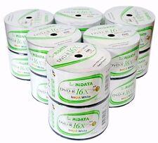 600 RIDATA Blank DVD-R DVDR White Inkjet Printable 16X 4.7GB Disc FREE EXPEDITED