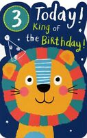 Boys Happy 3rd Birthday Greeting Card With Badge Childrens Greetings Cards