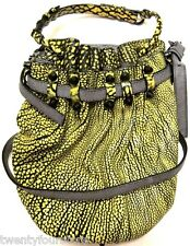 NWT Alexander Wang Diego Bucket Studded Bag in Contrast Tip Citron - VERY RARE