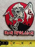 Iron Invasion rat fink style hot rod patch 4 inch lowbrow kustom kulture maiden
