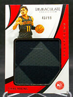 2018-19 Trae Young Immaculate #43/99 Rookie RC Remarkable Jersey RP Patch