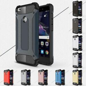 Shockproof Slim Rugged Hard Armor Builder Case Cover For Various Huawei Phones