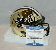Marshon Lattimore Autograph Signed New Orleans Saints Chrome Mini Helmet BAS 1