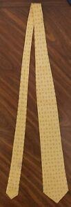 Authentic HERMES Neck Tie 100% Silk Necktie Made in France Yellow