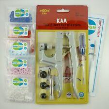 KAM Snap Pliers +100 T5/Size 20 Snaps - Choose your snap colours - UK Seller