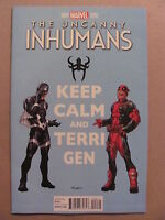 Uncanny Inhumans #4 Marvel Comics 2015 Series Deadpool Variant 9.4 Near Mint