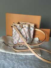 Louis Vuitton Nano Noe Drawstring  Shoulder Bag  Damier Tahitienne