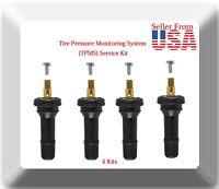 4 Kits 20635 TPMS Sensor Service Kit Fits: Cherokee Ram 1500 2500 3500 2014-2019
