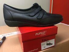 Ladies Black Leather Shoes Size 8