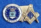 United States Air Force Masonic Lapel Pin - USAF / Mason / Military