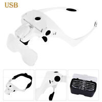 Easy Vision Illuminated Head Magnifier Glasses LED Magnifying Louped Head Mount!