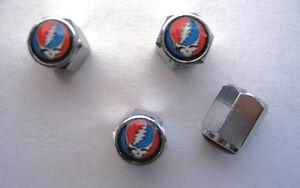 Grateful Dead Tire Valve Stem Caps, Grateful Dead Logo Tire Caps, tire valve cap