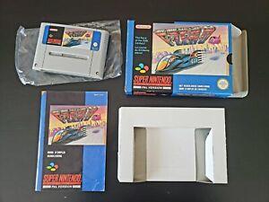 F-Zero - Super Nintendo (SNES) avec boîte et livret d'origine
