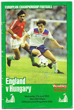 England v Hungary, 1982/83 - Autographed (S.Coppell) Match Programme