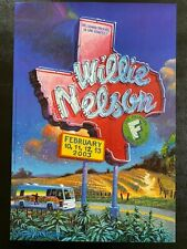 Willie Nelson Vintage Concert Poster San Francisco
